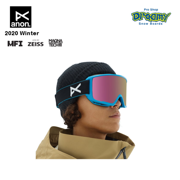 anon アノン M3 Goggle Asian Fit With Bonus Lens 20339101403 眼鏡対応 スノー ゴーグル アジアンフィット Magna-Tech MFI ZEISS SONARレンズ メンズ 正規品