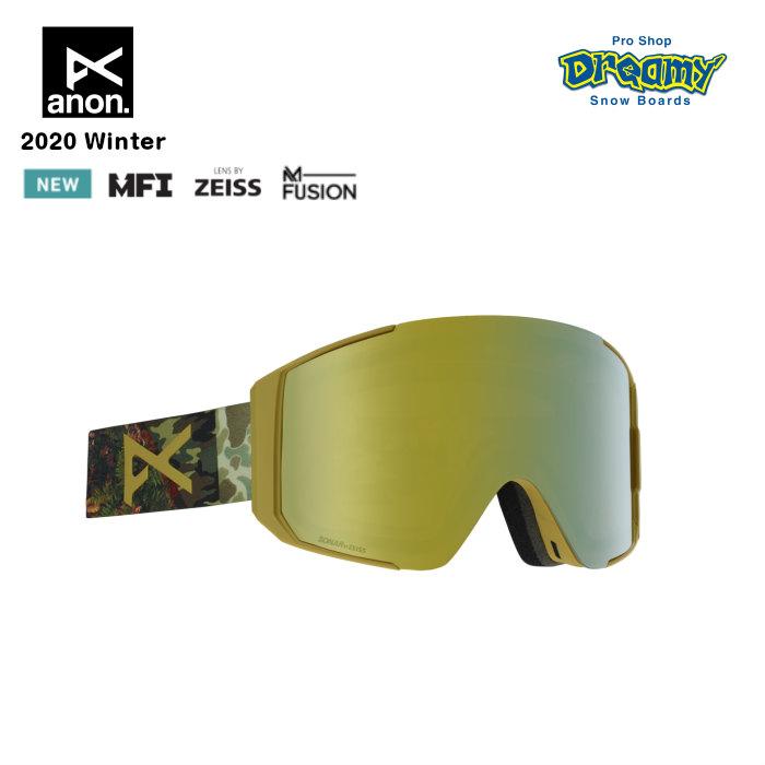 anon アノン Men's Sync Goggle Asian Fit With Bonus Lens 21508100970 眼鏡対応 スノー ゴーグル アジアンフィット M-Fusion MFI ZEISS SONARレンズ 正規品