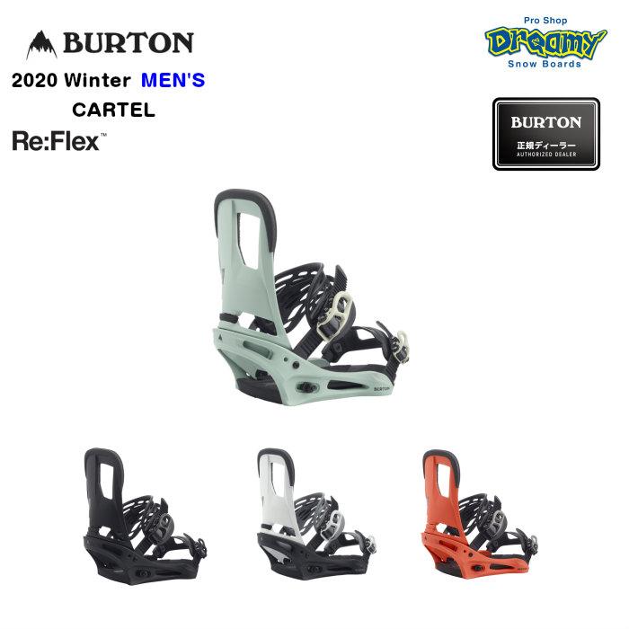 BURTON CARTEL Re:Flex 105391 メンズ ミディアム~ハードフレックス DialFLAD ハンモックストラップ バインディング スノーボード Winter 2020モデル 正規品