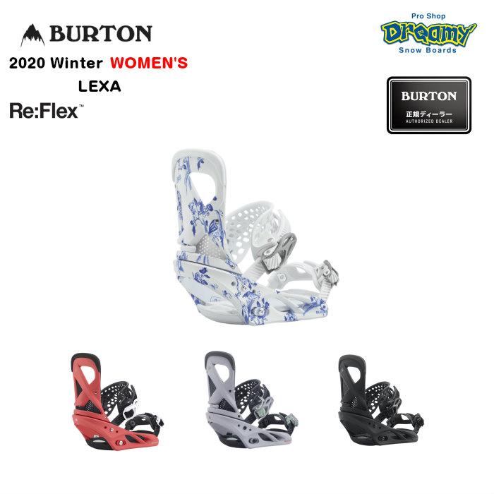 BURTON LEXA Re:Flex 105451ウィメンズ ミディアム~ハードフレックス 非対称ハンモックストラップ 女性専用トゥルーフィット バインディング Winter2020モデル 正規品