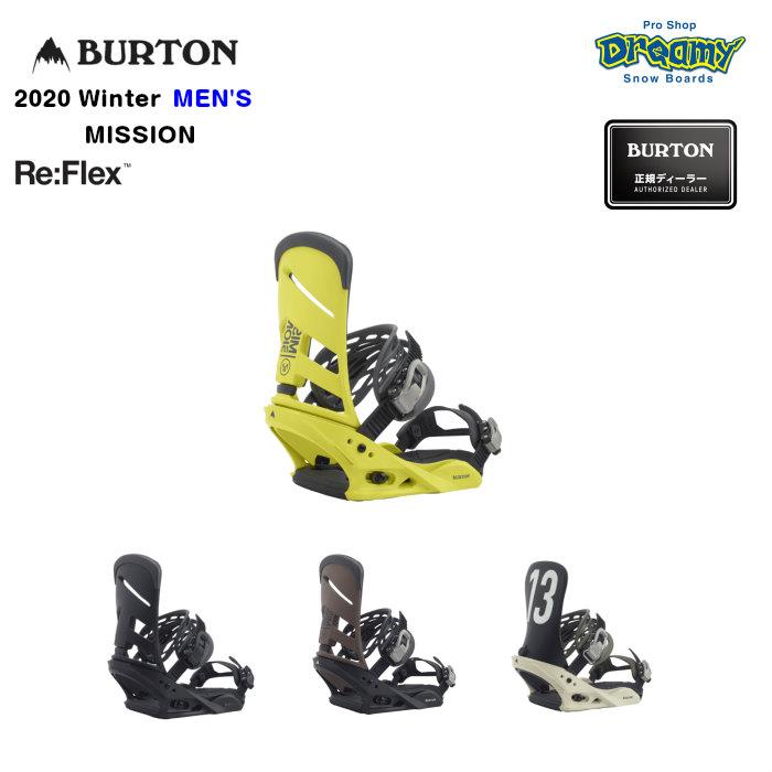 BURTON MISSION Re:Flex メンズ ミディアムフレックス DialFLAD ハンモックストラップ2.0 バインディング スノーボード Winter 2020モデル 正規品
