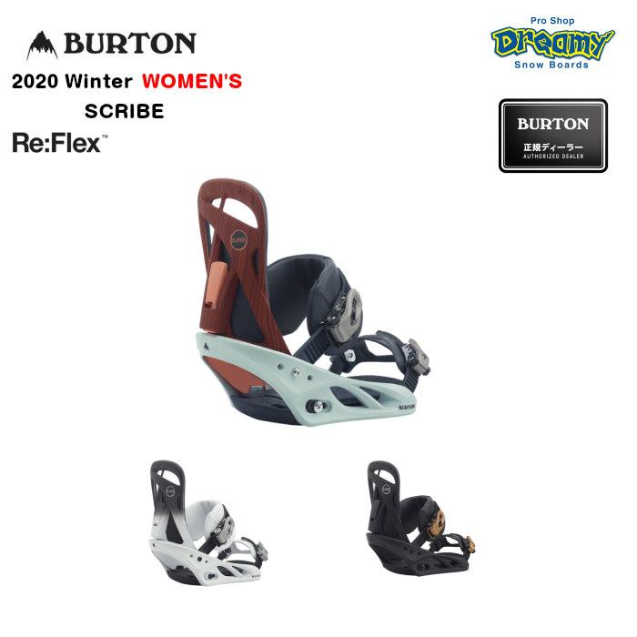 BURTON SCRIBE Re:Flex 105521 ウィメンズ ミディアムレックス MicroFLAD 女性専用トゥルーフィット構造 バインディング スノーボード Winter 2020モデル 正規品