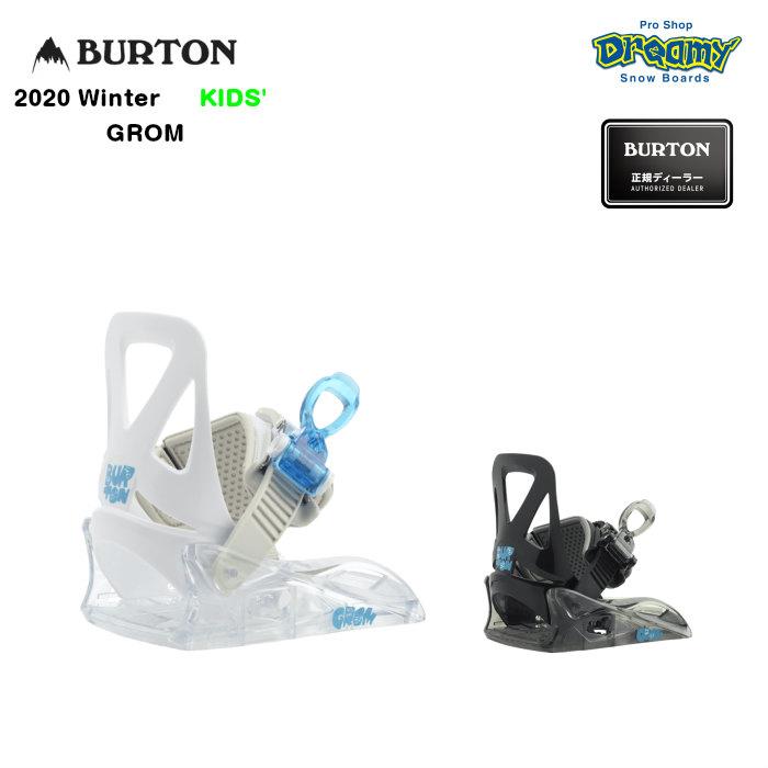 BURTON GROM 105771 キッズ ソフト~ミディアムフレックス ワンストラップ スムーズグライド式バックル バインディング スノーボード Winter2020モデル 正規品