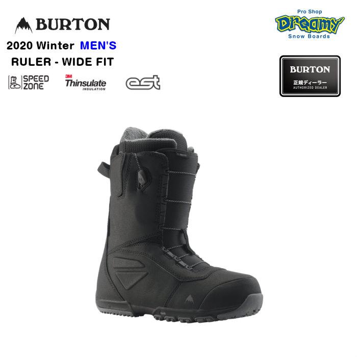 BURTON RULER-WIDE FIT 131751 メンズ SpeedZone Imprint2ライナー 3M Thinsulateインサレーション EST スノーブーツ スノーボード Winter2020モデル 正規品
