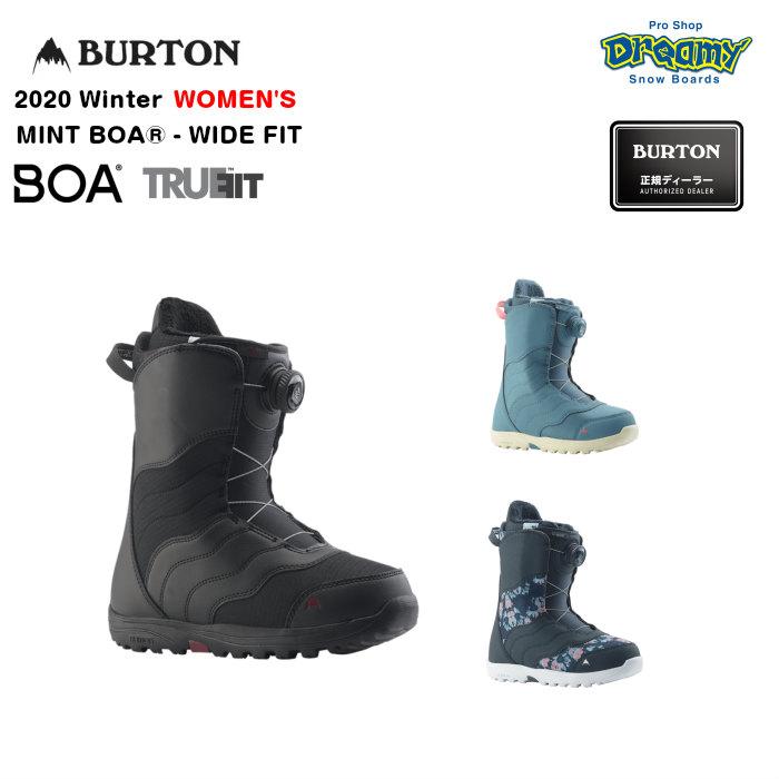 BURTON MINT BOA-WIDE FIT 215361 ウィメンズ ワイドフィット Imprint1 DynoLITE 女性専用トゥルーフィット構造 スノーブーツ スノーボード Winter 2020モデル 正規品