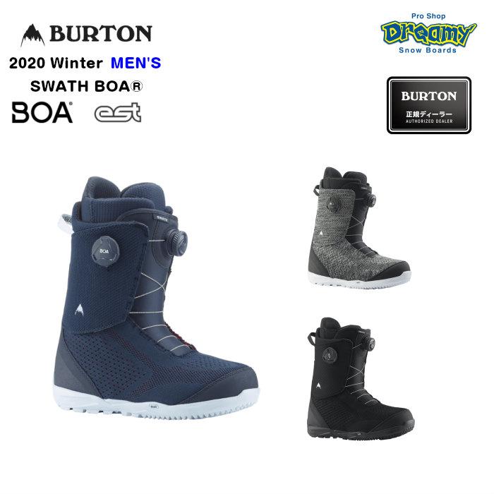BURTON SWATH BOA 203181 メンズ NewEnglandRopes Imprint3ライナー EST最適化DynoBITEアウトソール スノーブーツ スノーボード Winter 2020モデル 正規品