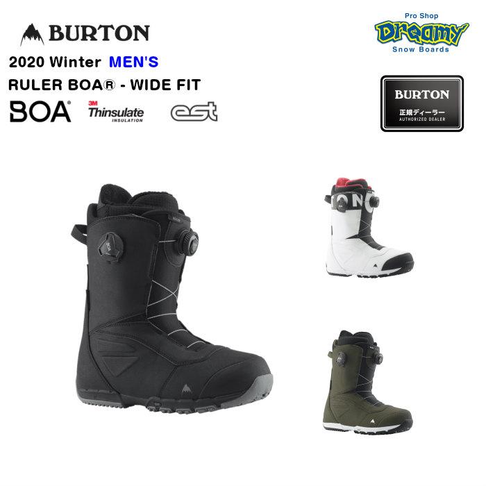 BURTON RULER BOA-WIDE FIT 214261 メンズ ワイドフィット Imprint2ライナー 3M Thinsulate ESTミッドソール スノーブーツ スノーボード Winter 2020モデル 正規品