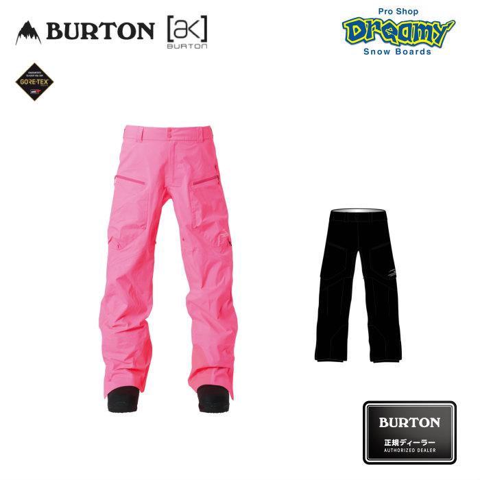BURTON バートン Men's AK457 Stout Pant 206341 レギュラーフィット スノー パンツ GORE-TEX 3レイヤー 立体裁断 カーゴポケット スノーボード 2019-20 正規品