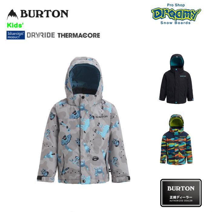 BURTON バートン Toddler Kids' Amped Jacket 115791 スノージャケットRoom-To-Growシステム DRYRIDE PFCフリー撥水加工 Thermacore キッズ 2019-2020 正規品