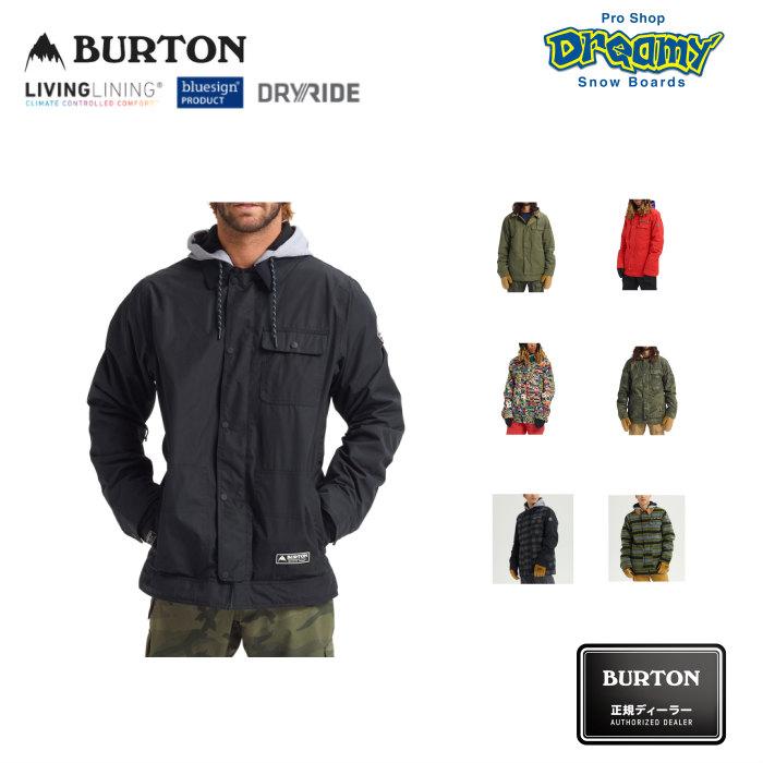 BURTON バートン Men's Dunmore Jacket 130671 スノージャケット DRYRIDE 2レイヤー Living Lining 取外し可能フード メディア/ゴーグルポケット 2019-20 正規品