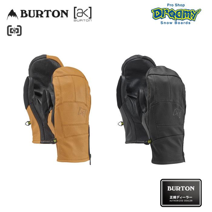BURTON バートン [ak] Leather Tech Mitt 131671 スノーミトン Gnar Guardレザー 起毛フリースライナー タッチスクリーン対応 スノーグローブ 2019-2020 正規品