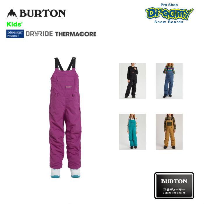 BURTON バートン Kids' Skylar Bib Pant 171501 キッズ スノー ビブパンツ Room-To-Grow DRYRIDE 撥水加工 Thermacore シームテープ加工 2019-2020 正規品