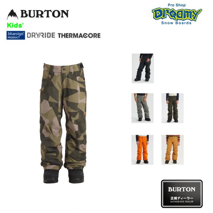 BURTON バートン Kids' Barnstorm Pant 205521 キッズ スノーパンツ レギュラーフィット Room-To-Growシステム DRYRIDE 撥水加工 Thermacore 2019-2020 正規品