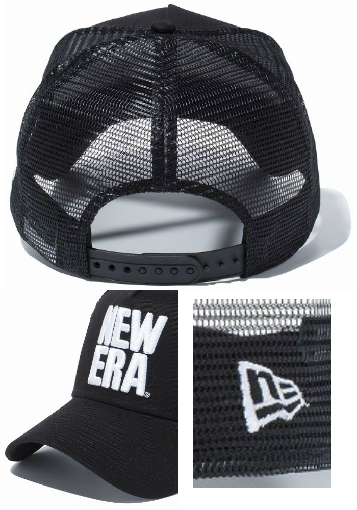 best service de141 efa1f get new era 59fifty hat back 1e784 c2491  sweden new era new gills 9forty a  frame trucker big new gills black x white 11557408