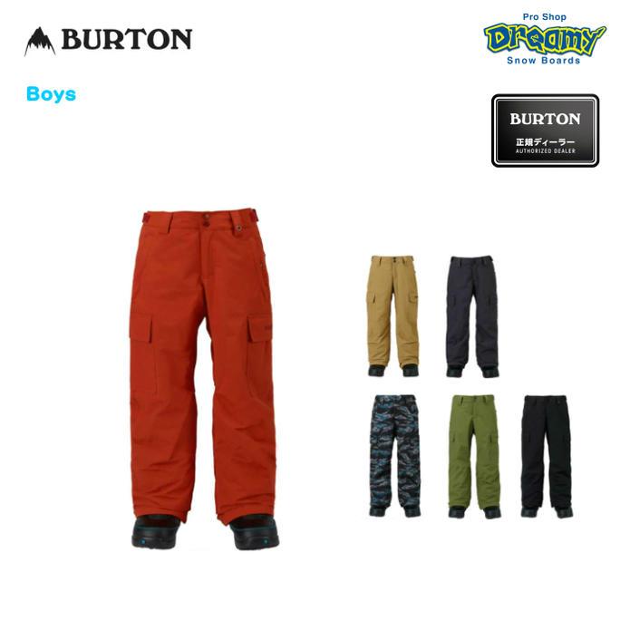 BURTON バートン ユース Boys' Exile Cargo Pant 11589102 Room-To-Growシステム クラシックフィット キッズ  スノー パンツ 2018モデル 正規品
