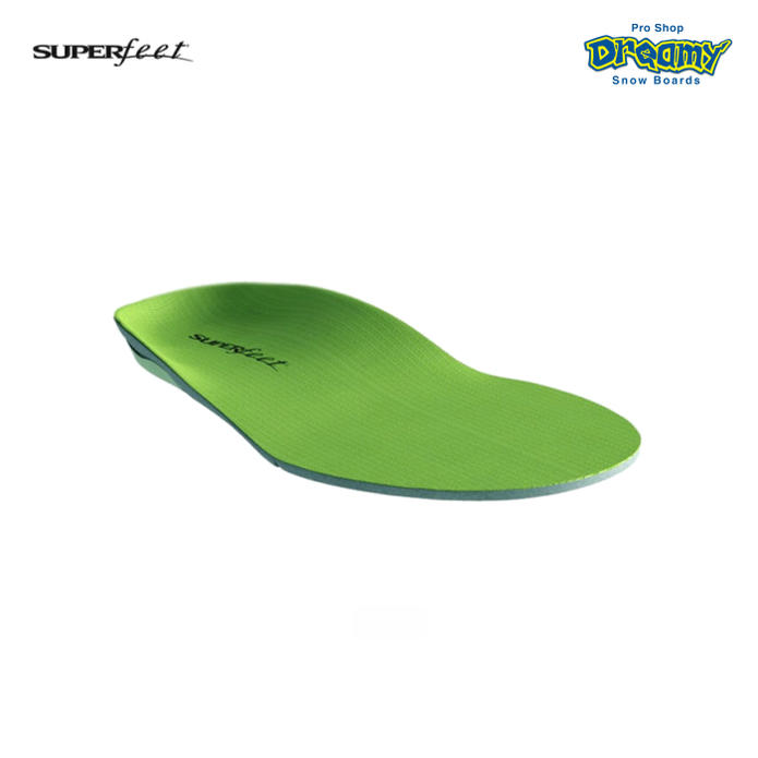56fdd53eae SUPERFEET Super feet wideGREEN deep heel cup wide cover biomechanical  design structure excess times in improving ...