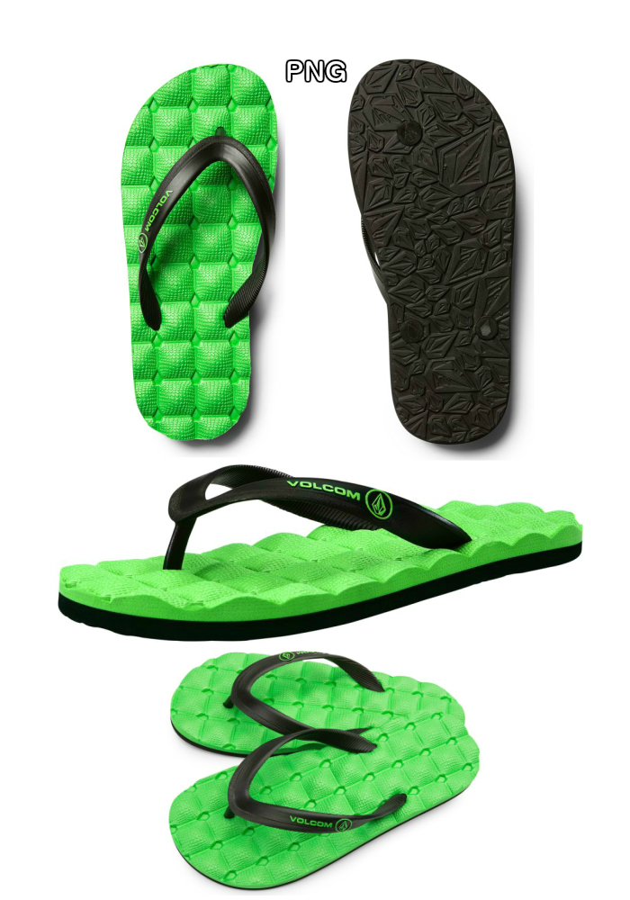 e62a44e49685 VOLCOM ボルコム RECLINER RUBBER BIG YOUTH X0811711 beach sandal size  2017  models regular article for the 1-5baud is youth use child