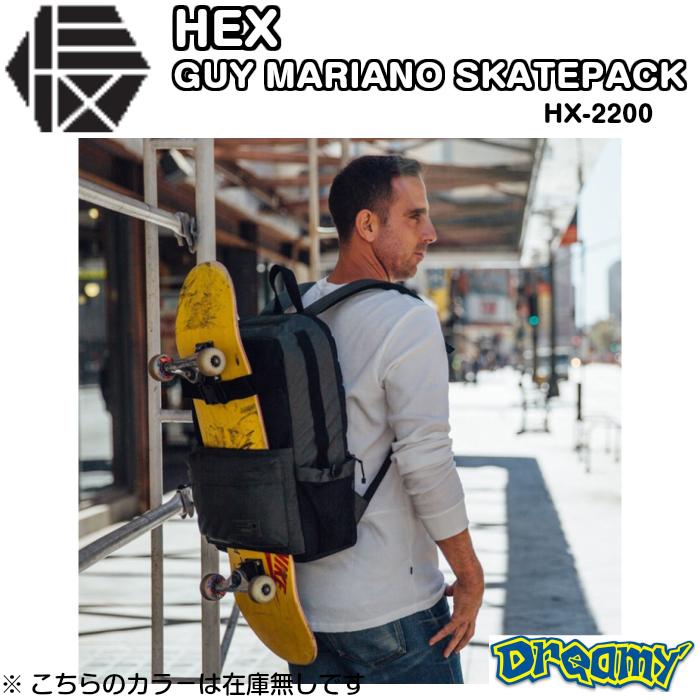 HEX GUYMARIANO SKATEPACK ヘックス ガイマリア-ノスケ-トパック BACKPACK SKATE SKATEBOARD アウトドア スケ-トHX2200 2019 正規品
