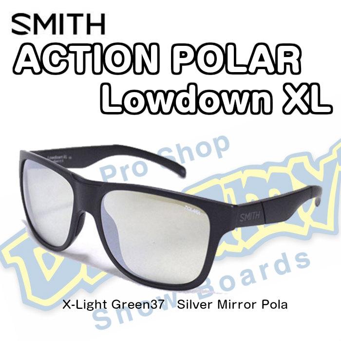 SMITH スミス LOWDOWN XL ローダウンXL 203370003 Tortoise ACTION POLAR [偏光] X-Light Gray Green 38 Silver Mirror サングラス 2018モデル 正規品