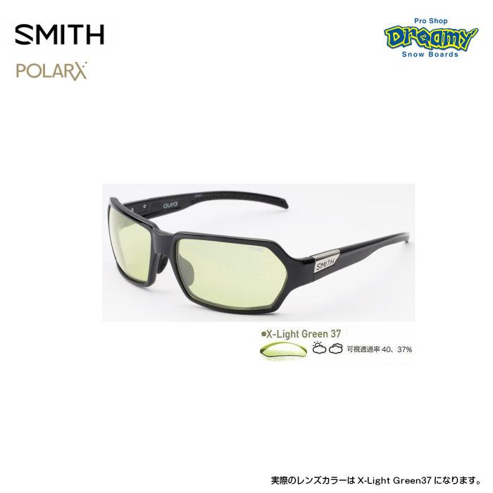 SMITH スミス ACTION POLAR Aura Black 207500012 X-Light Green37 POLARX フィッシング用 偏光レンズ POLARX ジャパンフィット 釣り 2019モデル 正規品