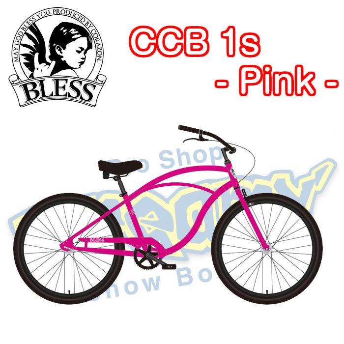 BLESS ブレス CCB 1s - pink シーシービー・ピンク ビーチクルーザー 自転車 サーフィン