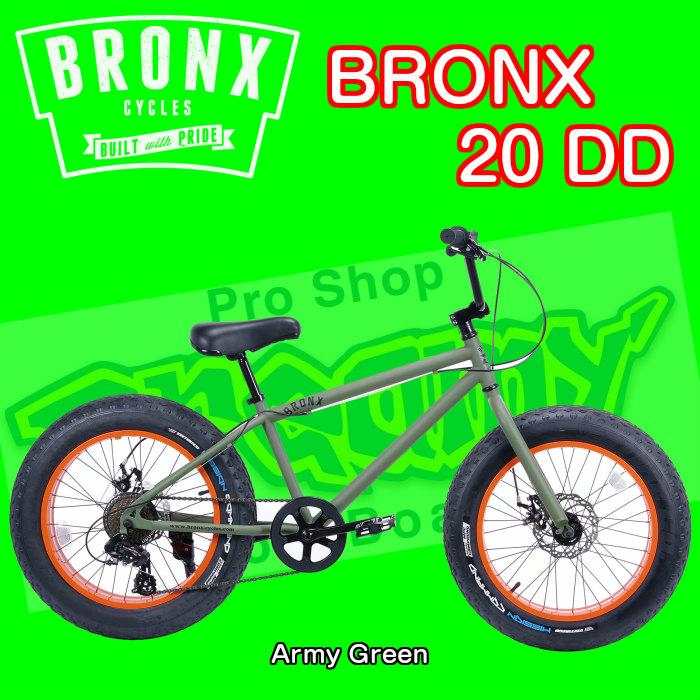 BRONX 20 DD ブロンクス FAT BIKE ファットバイク Army Green 自転車 外装7段変速 20インチ