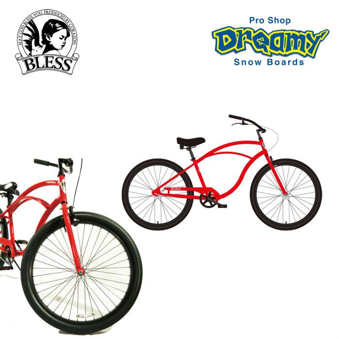 BLESS ブレス CCB 1s - red シーシービー・レッド ビーチクルーザー 自転車 サーフィン