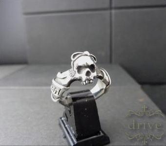 送料無料 【drive シルバーアクセサリー】 ドライヴ dr-041 ゴスロリスカルミニ シルバーリング メンズ silver925 シルバー925 シルバーアクセ ドクロ