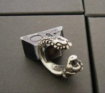 送料無料 【drive シルバーアクセサリー】 ドライヴ dr-009 ライオン&スネークキマイラ シルバーリング フリーサイズ メンズ silver925 シルバー925 シルバーアクセ