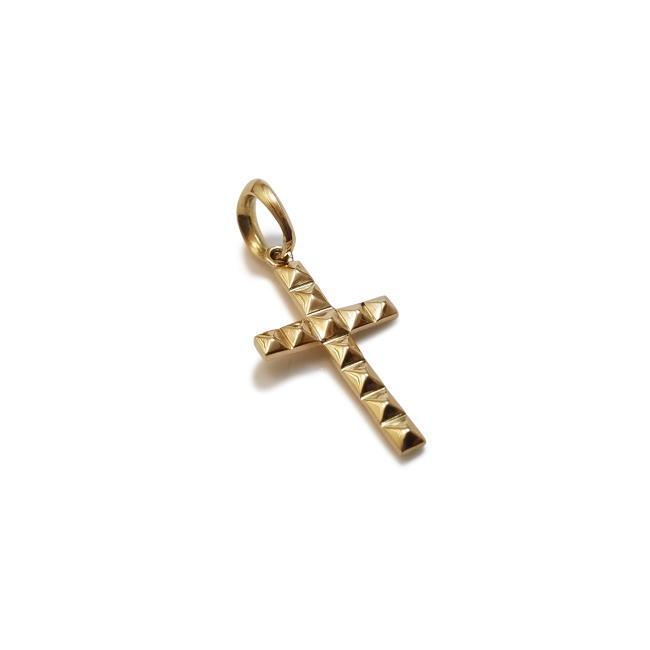 【フューチャードアズ】fdp-019 k18 ゴールド スタッズクロスSペンダント メンズ レディース 18金 記念日 ペア 贈り物 誕生日 ギフト 十字架 大きいバチカン