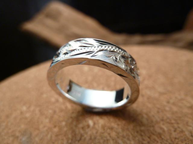 【kapua ハワイアンジュエリー 】hr-013 6mmフラットサイドヘビーリング レディース メンズ silver925 シルバー925 シルバーアクセサリー ハワジュ 指輪 波 プルメリア 誕生日 プレゼント 記念日 贈り物 スクロール
