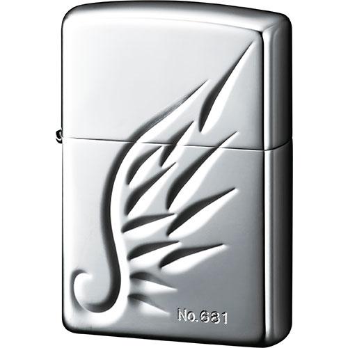 送料無料 【ZIPPO オイルライター】ZIPPO-001 スターリングシルバーオイルライター V-WING メンズ レディース silver925 シルバー925 シルバーアクセ 純銀 箱付き 保証書付