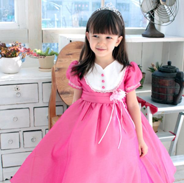 ロザリンチェリーピンクドレス(1号~13号)子供ドレス 子供用ドレス こどもドレス ベビードレス 結婚式 発表会 コンクール