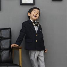 ネイビーエディゾイドスーツ2点セット(ジャケット+長ズボン)(1号~17号)子供スーツ 子供フォーマル 結婚式 発表会 コンクール リングボーイ 入園式 卒園式 入学式 卒業式