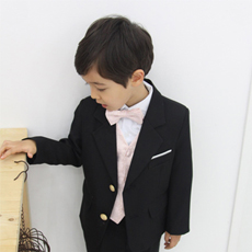 ブラックエディルーカスピンクベストスーツ4点セット(ジャケット+ベスト+タイ+長ズボン)(1号~17号)子供スーツ 子供フォーマル 結婚式 発表会 コンクール リングボーイ 入園式 卒園式 入学式 卒業式