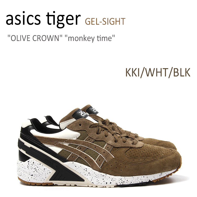 asics tiger GEL-SIGHT OLIVE CROWN Monkey Time KKI/WHT/BLK 【アシックスタイガー】【TQJ6H3-8686】 シューズ