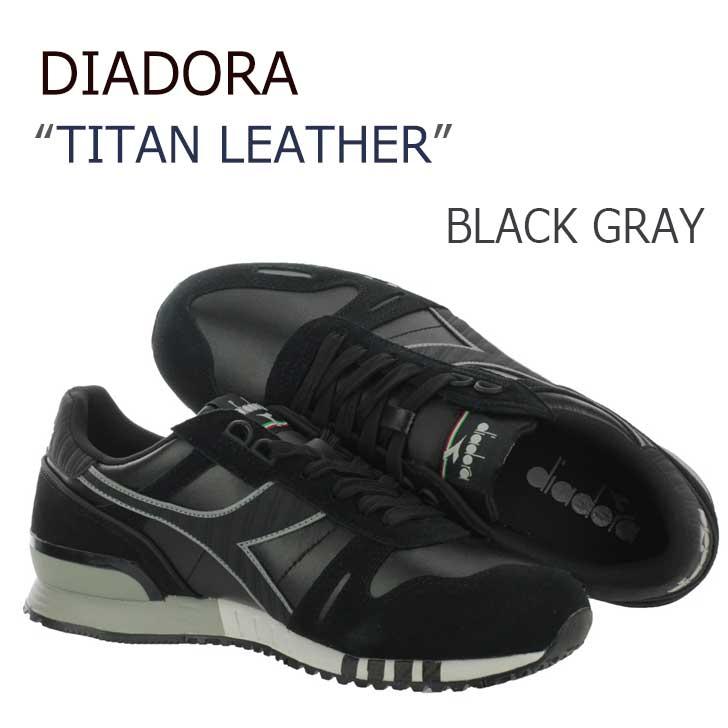 Diadora/TITAN LEATHER/Black Gray 【ディアドラ】【160354-80013】 シューズ