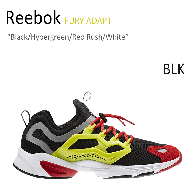 Reebok FURY ADAPT Black/Hypergreen/Red Rush/White 【リーボック】【フューリーアダプト】【AR1868】 シューズ