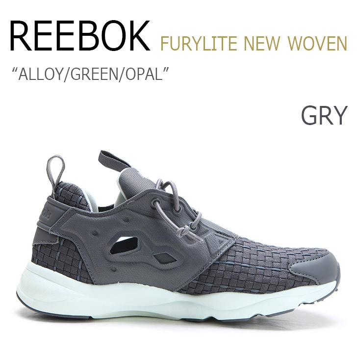 Reebok FURYLITE NEW WOVEN ALLOY/GREEN/OPAL【リーボック】【フューリーライト】【V68869】 シューズ