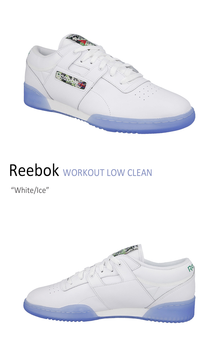 ecad58fe623faf 楽天市場 Reebok WORKOUT LOW CLEAN White Ice  リーボック  V67875 ...