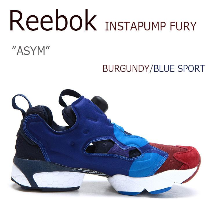 【送料無料】Reebok INSTAPUMP FURY ASYM BURGUNDY/BLUE SPORT【リーボック】【インスタ ポンプフューリー】【V67792】 シューズ