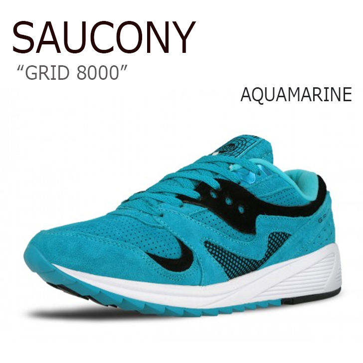 サッカニー スニーカー Saucony メンズ GRID 8000 グリッド8000 AQUAMARINE アクアマリン S70223-2 シューズ