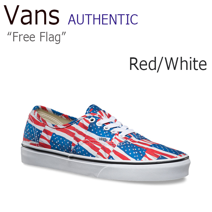 VANS Authentic Free Flag Red/True White 【星条旗】【VN-04MKIE7】【バンズ】 シューズ