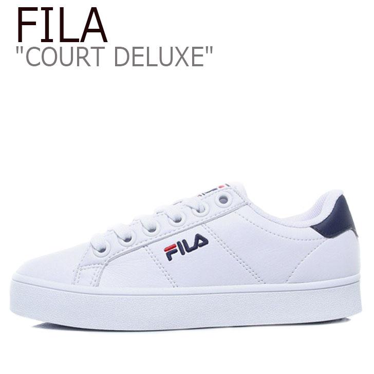 FILA COURT DELUXE/White/Navy【フィラ】【コートデラックス】【F1XKZ0171】 シューズ
