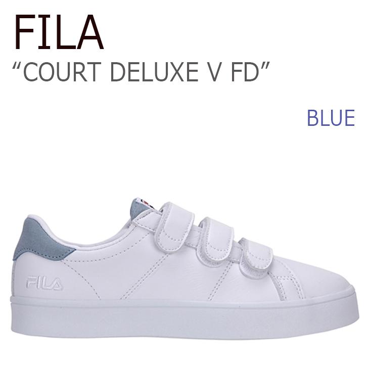FILA COURT DELUXE V FD/Blue【フィラ】【コートデラックス】【ベルクロ】【日本未発売】【FILA x FOLDER】【FLFL7S1U05】 シューズ