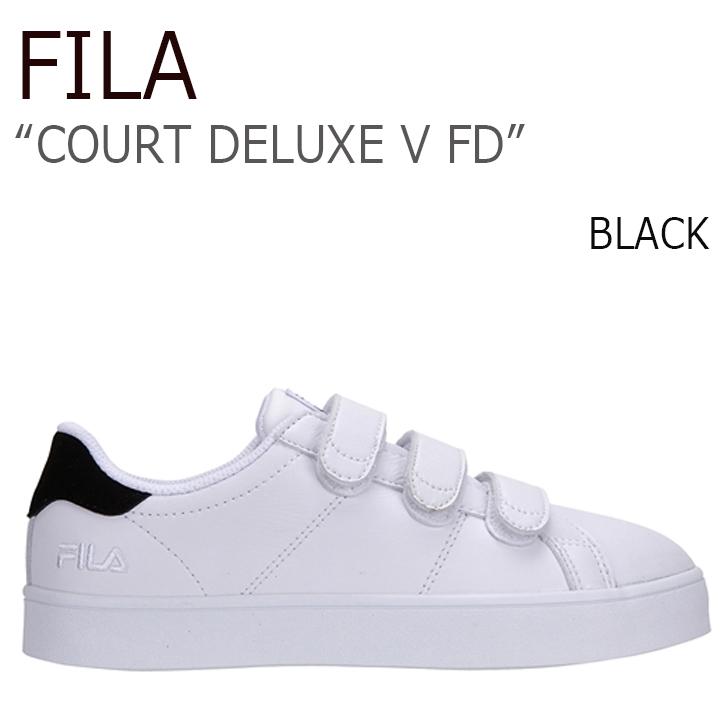 FILA COURT DELUXE V FD/Black【フィラ】【コートデラックス】【ベルクロ】【日本未発売】【FILA x FOLDER】【FLFL7S1U04】 シューズ