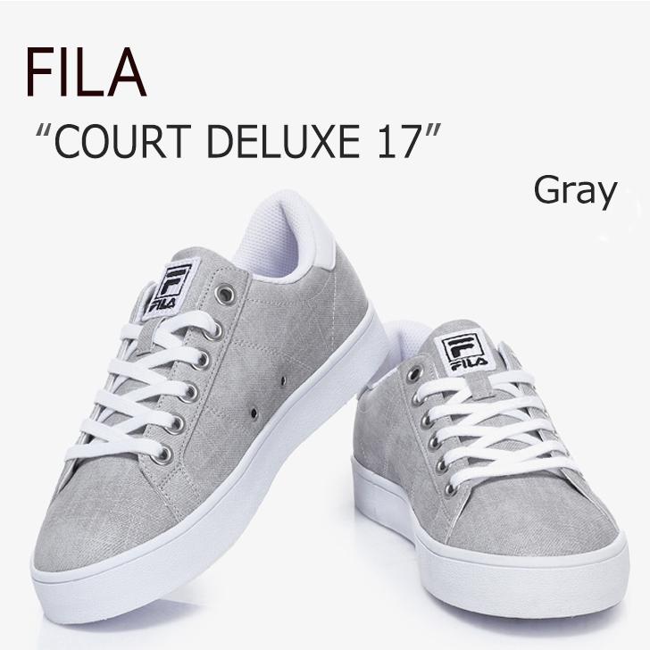 FILA COURT DELUXE 17/Gray【フィラ】【コートデラックス】【F1XKZ0302】 シューズ