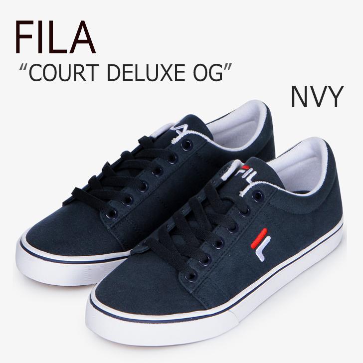 FILA COURT DELUXE OG/Navy【フィラ】【コートデラックスOG】【F1XKZ5322】 シューズ