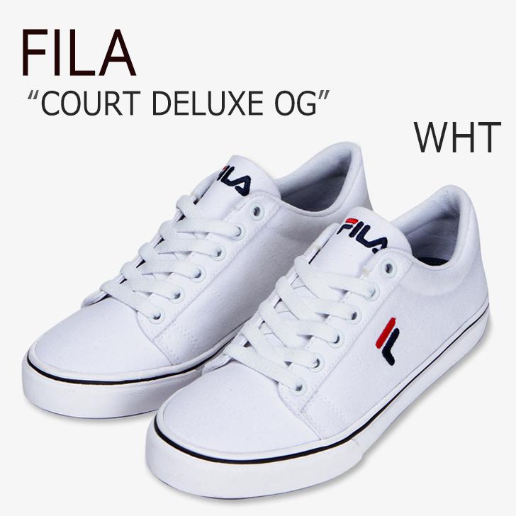 FILA COURT DELUXE OG/White【フィラ】【コートデラックスOG】【F1XKZ5321】 シューズ