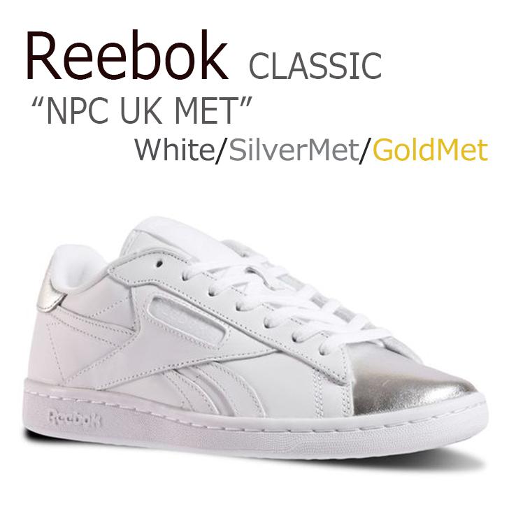 リーボック スニーカー Reebok レディース NPC UK MET White Silver Met ホワイト シルバー BS6476 シューズ